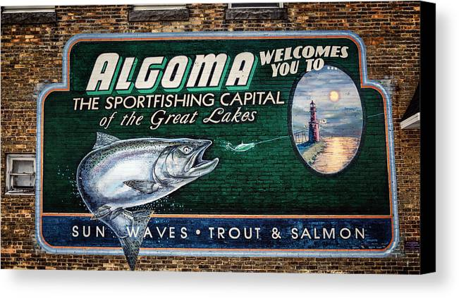 Joan Carroll Canvas Print featuring the photograph Algoma Welcomes You by Joan Carroll