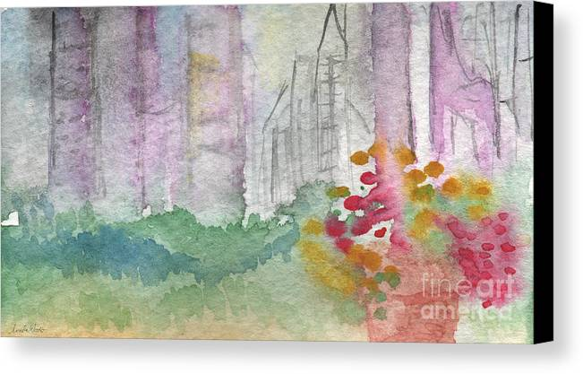 Garden Canvas Print featuring the painting Central Park by Linda Woods