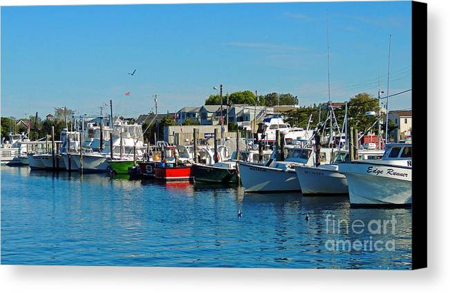 Jersey Shore Canvas Print featuring the photograph Docked by Marian DeSalvo-Rodgers