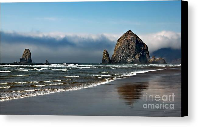 Haystack Rock Canvas Print featuring the photograph Haystack by Robert Bales