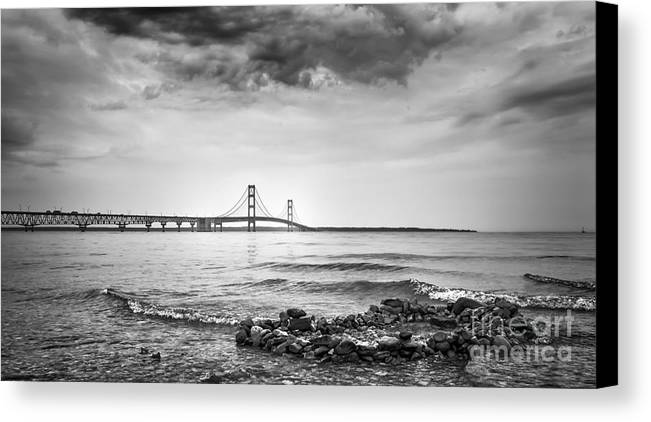 Mackinac Canvas Print featuring the photograph Mackinac Bridge by Jonathan Virgie