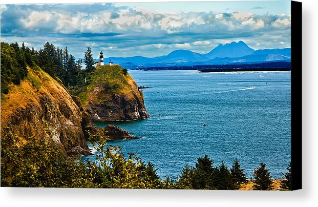 Lighthouse Canvas Print featuring the photograph Overlooking by Robert Bales