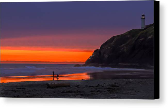 Sunset Canvas Print featuring the photograph Peaceful Evening by Robert Bales