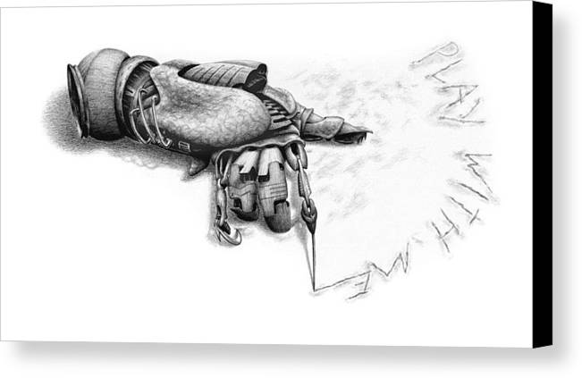 Hand Canvas Print featuring the drawing Play With Me by Vincent Jimenez