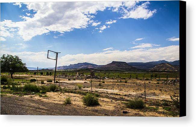 Route 66 Canvas Print featuring the photograph Signpost by Angus Hooper Iii
