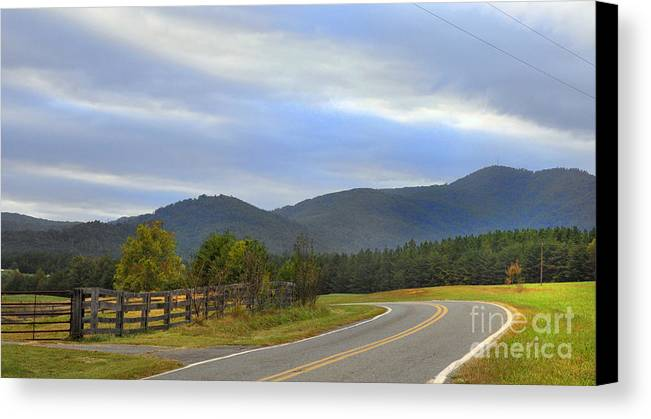 Canvas Print featuring the photograph South Mountains Nc by Stuart Mcdaniel