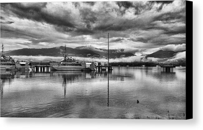 Military Canvas Print featuring the photograph Navy Lookout by Douglas Barnard