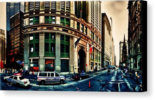 New York Canvas Print featuring the digital art New York Nypd by Radu Aldea