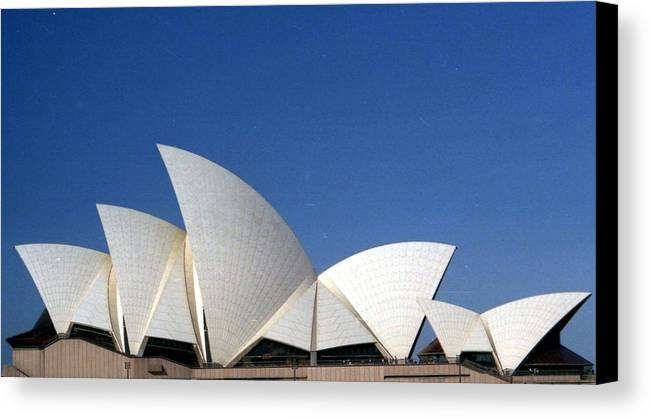 Opera House Canvas Print featuring the photograph Opera Fins by Robert M Brown II