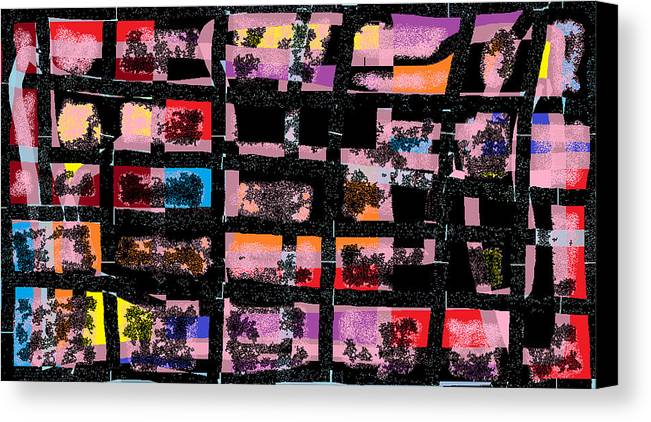 Greeting Card Canvas Print featuring the digital art Pictures At An Exhibition by Beebe Barksdale-Bruner