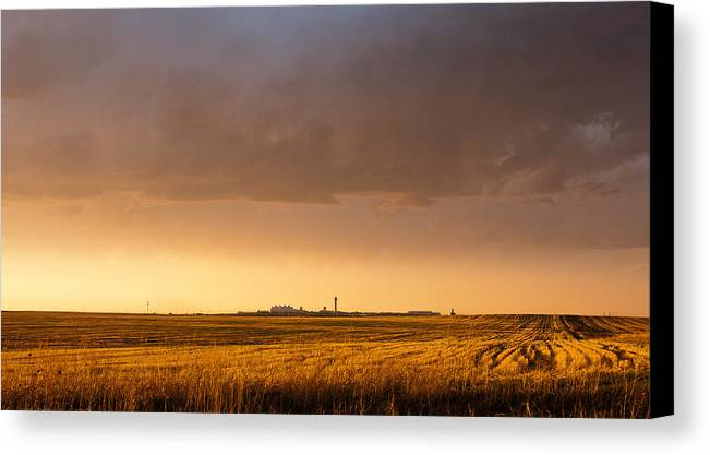 Hdr Canvas Print featuring the photograph Storm Clouds Over Dia by Monte Stevens