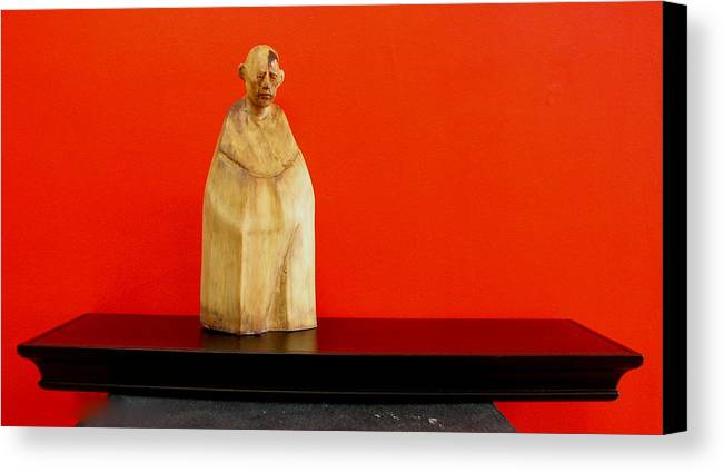 Figure Canvas Print featuring the sculpture Untitle by Victor Amor