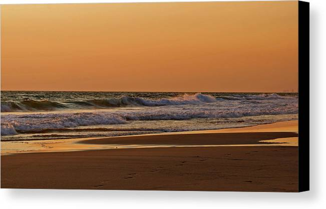 Beach Canvas Print featuring the photograph After A Sunset by Sandy Keeton
