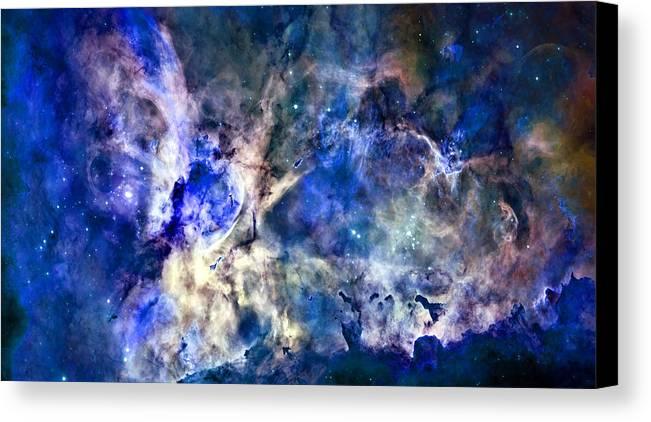 Carinae Nebula Canvas Print featuring the photograph Carinae Nebula by Michael Tompsett