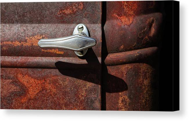 Trucks Canvas Print featuring the photograph Ford Door Handle by John Nelson