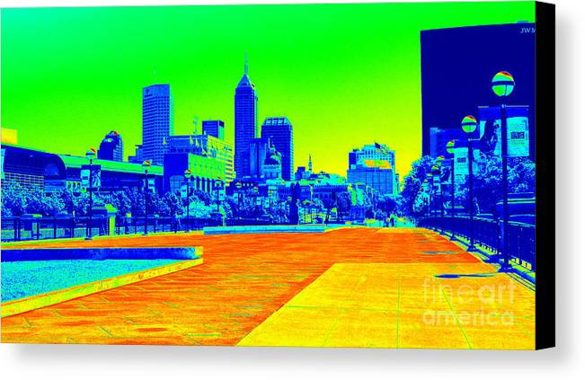Canvas Print featuring the photograph Indianapolis Heat Tone by Cj Mainor