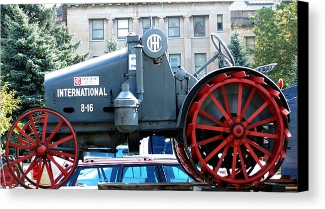 Tractor Canvas Print featuring the digital art International 8-16 by David Lane