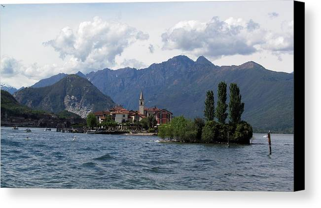 Pieropainting - Isola Bella - Lago Maggiore - Lake - Stresa - Italy - Photography Canvas Print featuring the photograph Isola Bella by Piero C