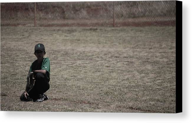Baseball Canvas Print featuring the photograph Little League by Lakida Mcnair