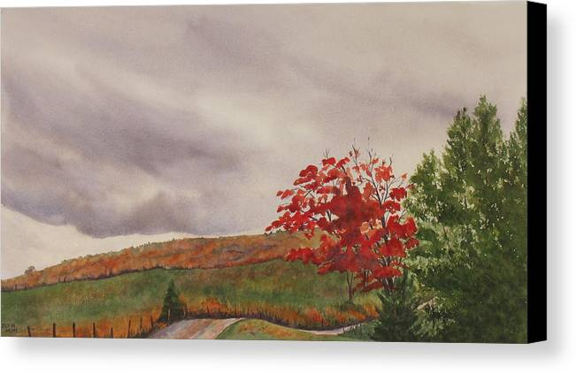 Dark Canvas Print featuring the painting October Wind by Debbie Homewood