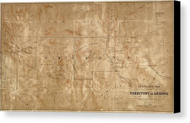 Old Map Of Arizona And New Mexico By Arthur De Witzleben - 1860 ...
