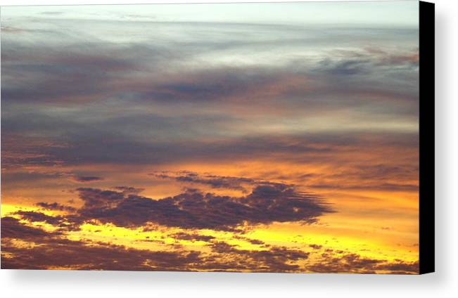 Sunrise Canvas Print featuring the photograph Painted Sky Two by Ana Villaronga