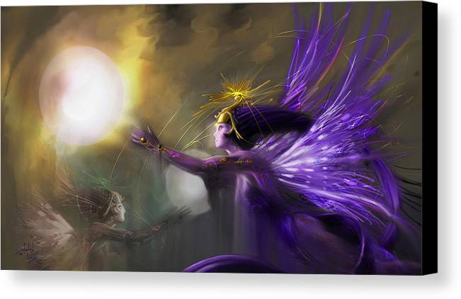 Fairies Canvas Print featuring the digital art Sphere Makers Of Emergging Consciousness by Stephen Lucas