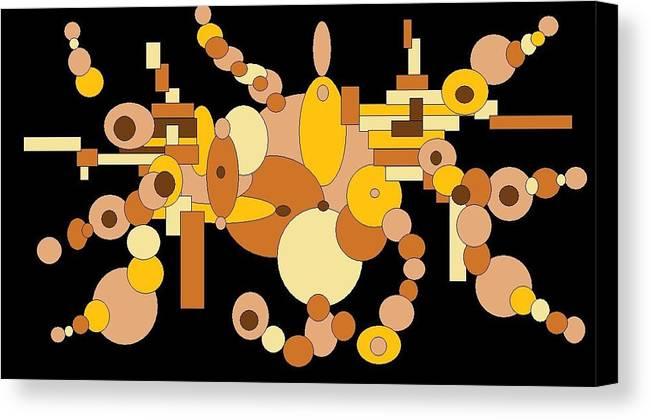 Digital Artwork Canvas Print featuring the digital art Squiggly by Jordana Sands