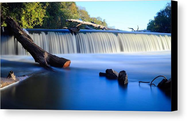 Dam Canvas Print featuring the photograph Steamboat Rock Panorama 2 by Bonfire Photography