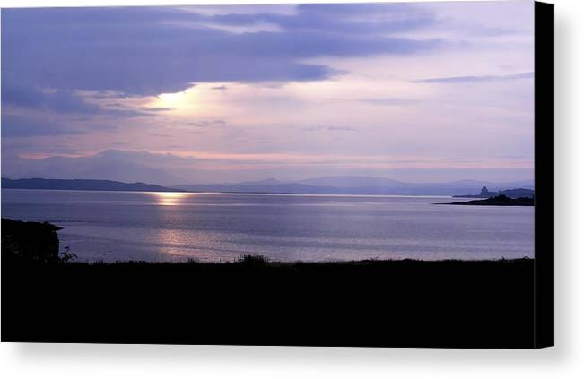 Landscape Canvas Print featuring the photograph Sunrise Over The Mainland by Mary Lane