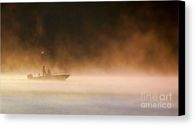 Canvas Print featuring the photograph The Early Bird Get's The Fish by Patricia L Davidson