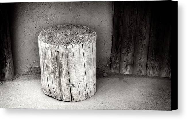 Canvas Print featuring the photograph Think I'll Carve Something by Timothy Princehorn