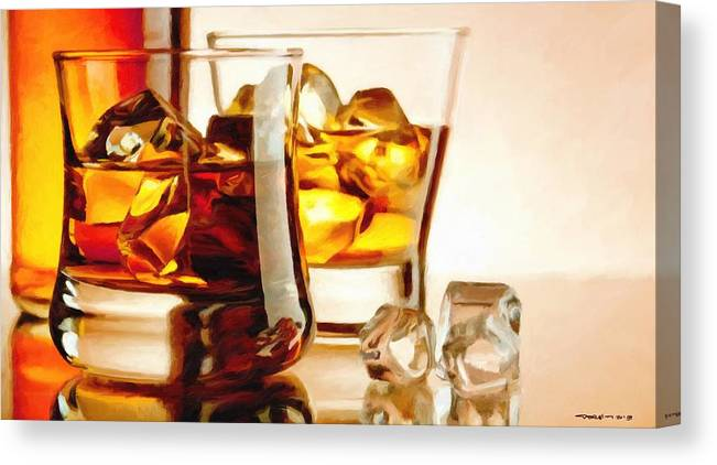 Bourbon Canvas Print featuring the digital art Bourbon - Large Size Painting by Gabriel T Toro