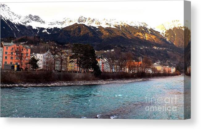 Innsbruck Canvas Print featuring the photograph The Inn by Jessica Panagopoulos
