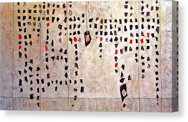 Collage Canvas Print featuring the mixed media Dream Abacus by Dale Witherow