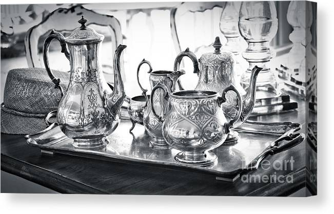 Antique Canvas Print featuring the photograph Vintage Teatime by Chavalit Kamolthamanon
