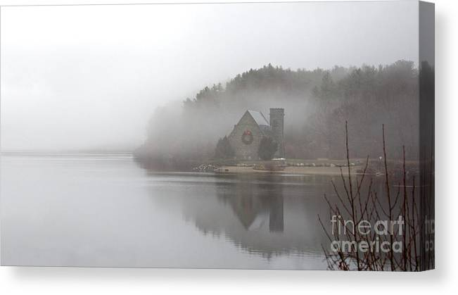 Old Stone Church Canvas Print featuring the photograph Old Stone Church by Cathy Fitzgerald