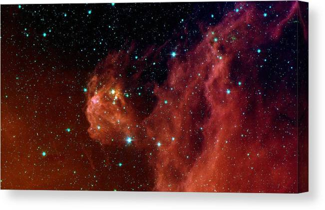 Space Canvas Print featuring the photograph Stars by American School