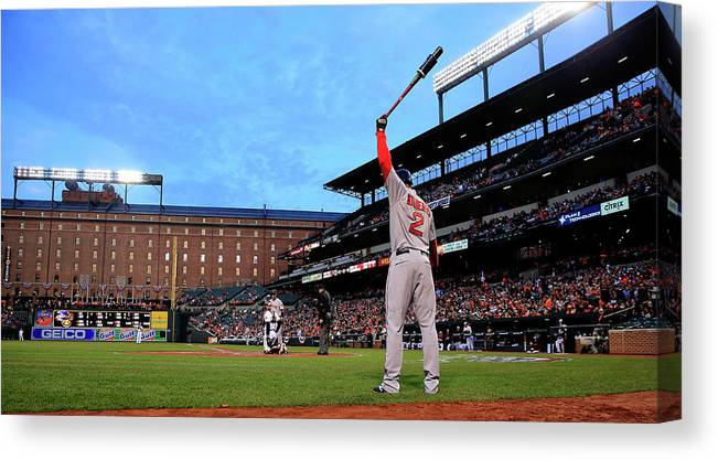 Second Inning Canvas Print featuring the photograph Xander Bogaerts by Rob Carr