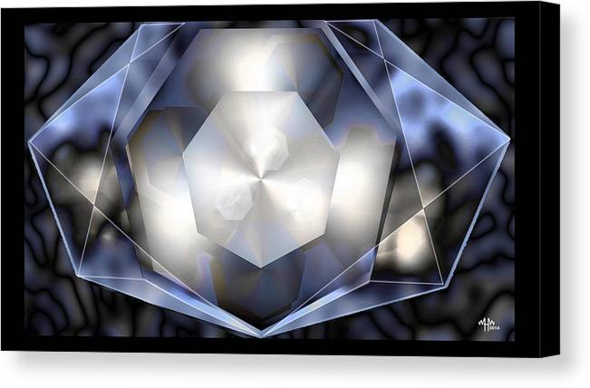 Geometric Abstract Canvas Print featuring the digital art Heptamint by Warren Furman