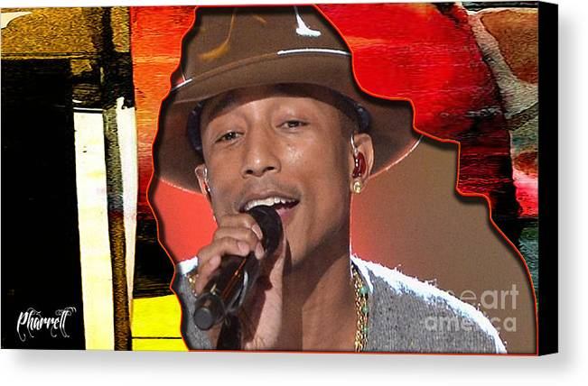 Tron Paintings Mixed Media Canvas Print featuring the mixed media Pharrell Williams by Marvin Blaine
