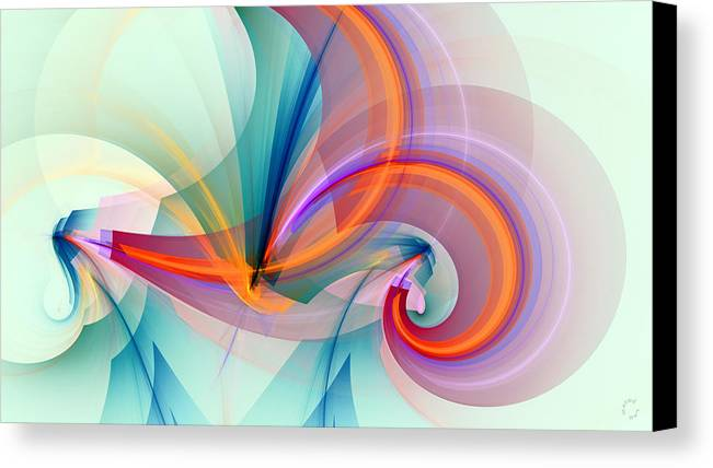 Abstract Art Canvas Print featuring the digital art 1260 by Lar Matre