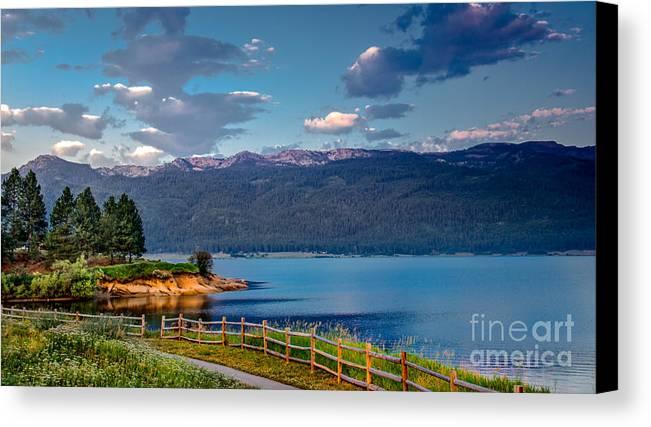 Idaho Canvas Print featuring the photograph Beautiful Lake View by Robert Bales