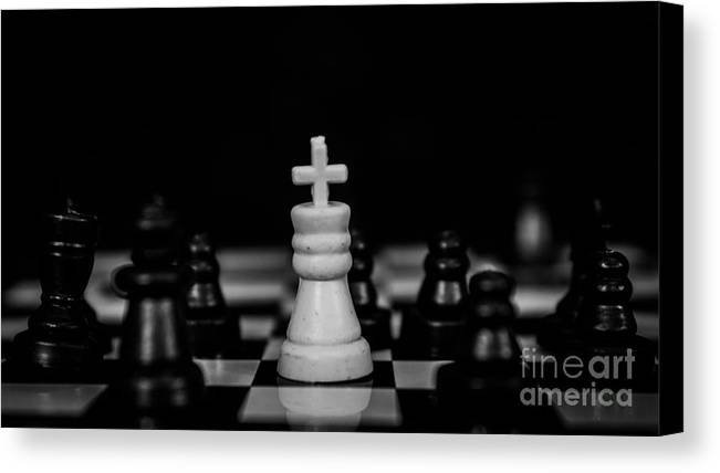 Checkmate Canvas Print featuring the photograph Checkmate by Tsvetan Babechki