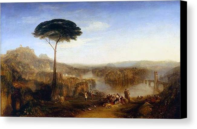 1832 Canvas Print featuring the painting Childe Harold's Pilgrimage by JMW Turner