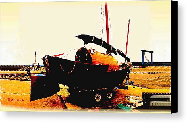 Boats Canvas Print featuring the photograph Chinese Sampan by Sadie Reneau