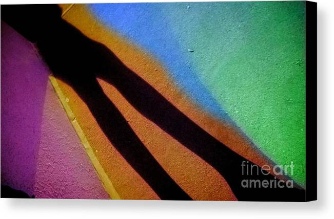 Lights Canvas Print featuring the photograph Colorful Shadow by Jennifer Churchman