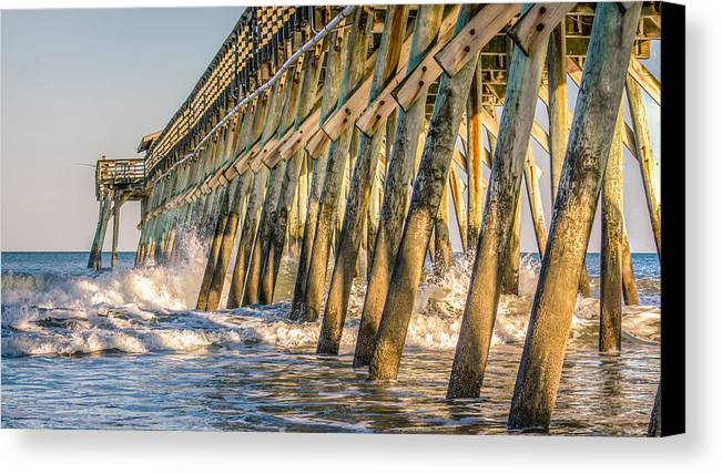 Pier Canvas Print featuring the photograph Crash by Rob Sellers