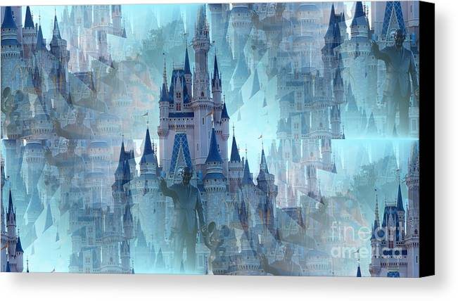 Disney Canvas Print featuring the photograph Disney Dreams by Aranka Marin