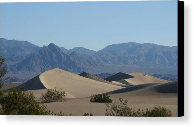 Death Valley Canvas Print featuring the photograph Dunes by Riki and Allen Colby